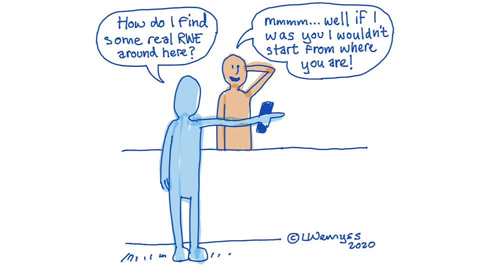It may be an old joke, but its still usefull for helping you decide how to find your way to a digital health solution.