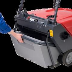 Cleanfix KS650 sweeper debris hopper
