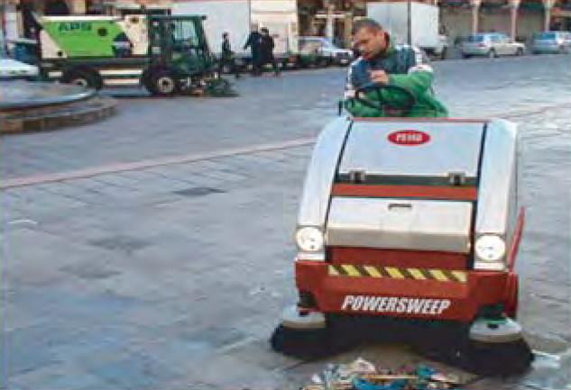 POWERSWEEP PS140 carpark sweeper