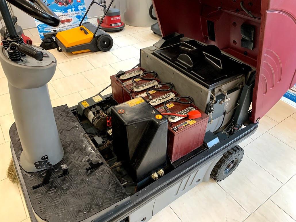 PowerBoss sweeper engine access