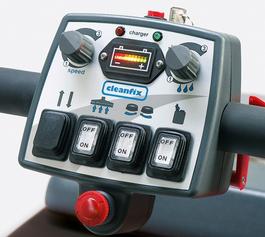 Cleanfix RA605 scrubber operacontrol
