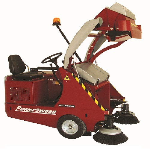 PS140 Sweeper with High Dump Hopper