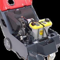 Cleanfix KS650 sweeper battery compartment