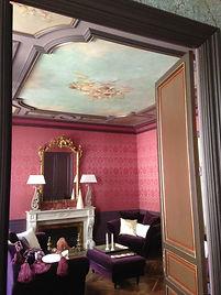 tissus tendus, maison 18ieme,tapissier decorateur