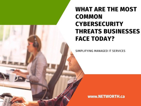What are the Most Common Cybersecurity Threats Businesses Face Today?