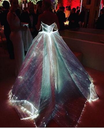 vestido fibra vidrio de Claire Danes