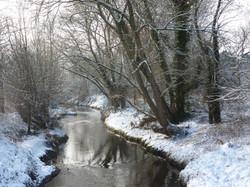 Winter scene, Black Brook, Loughborough
