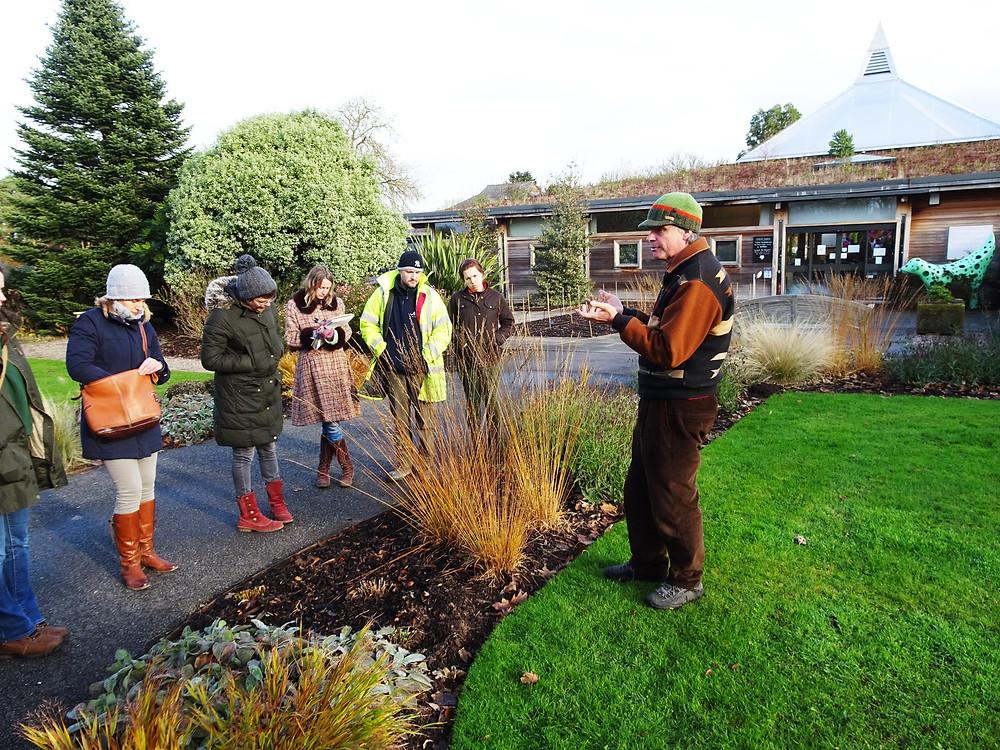 Dr. Noel Kingsbury teaching at Ness Botanic Gardens