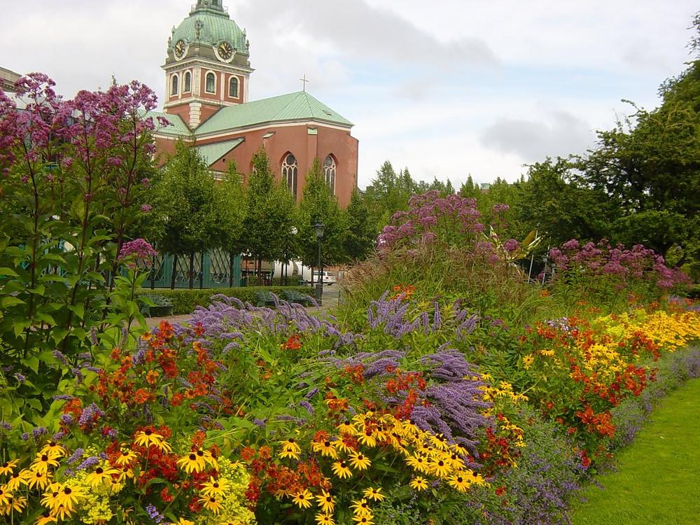 European park planting