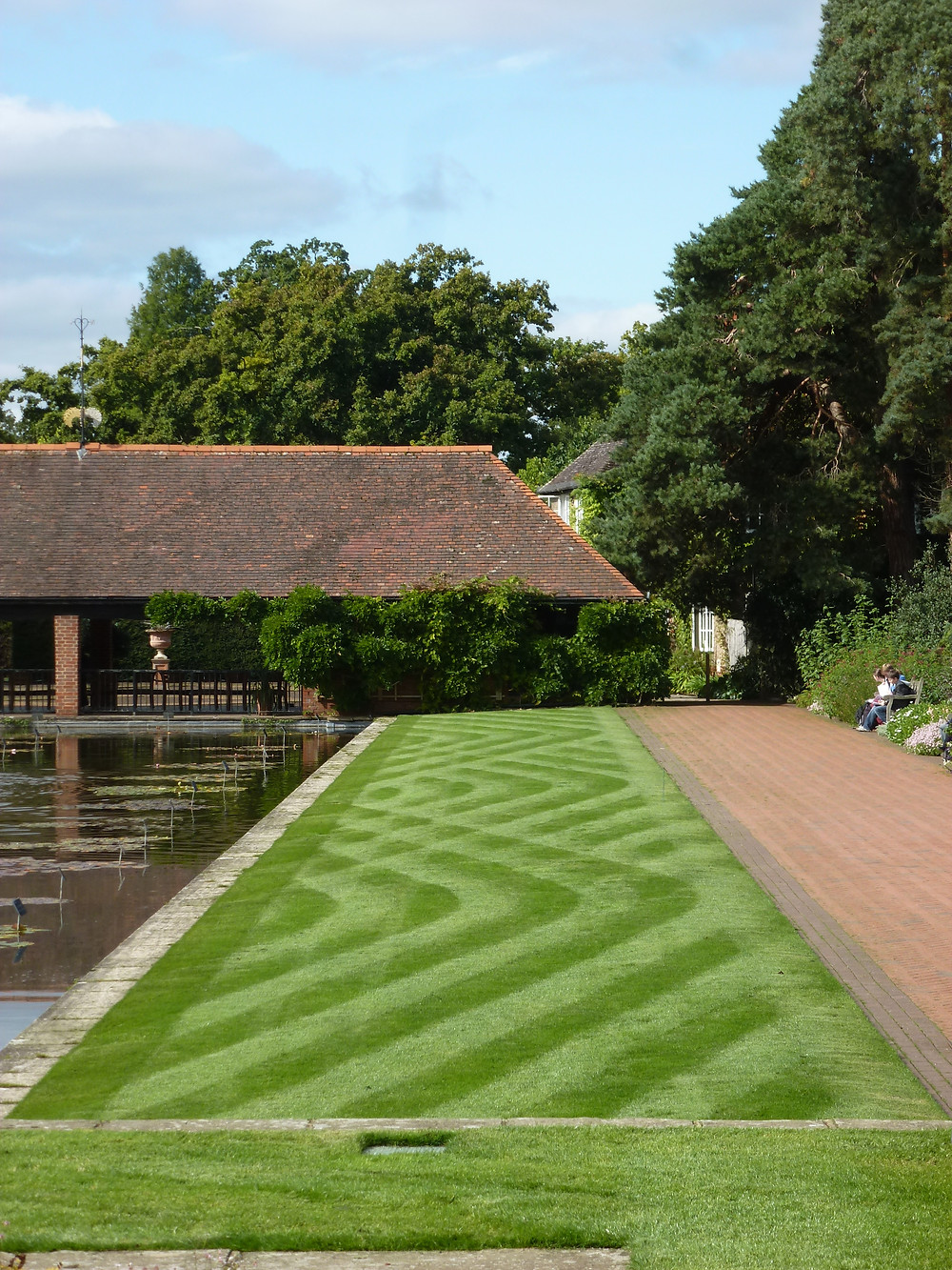 Mowing as art form, RHS Wisley