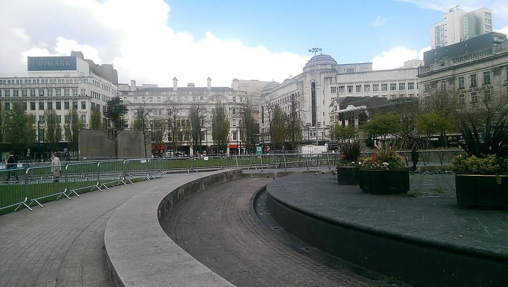 The fountains long-standing broken before recent repair