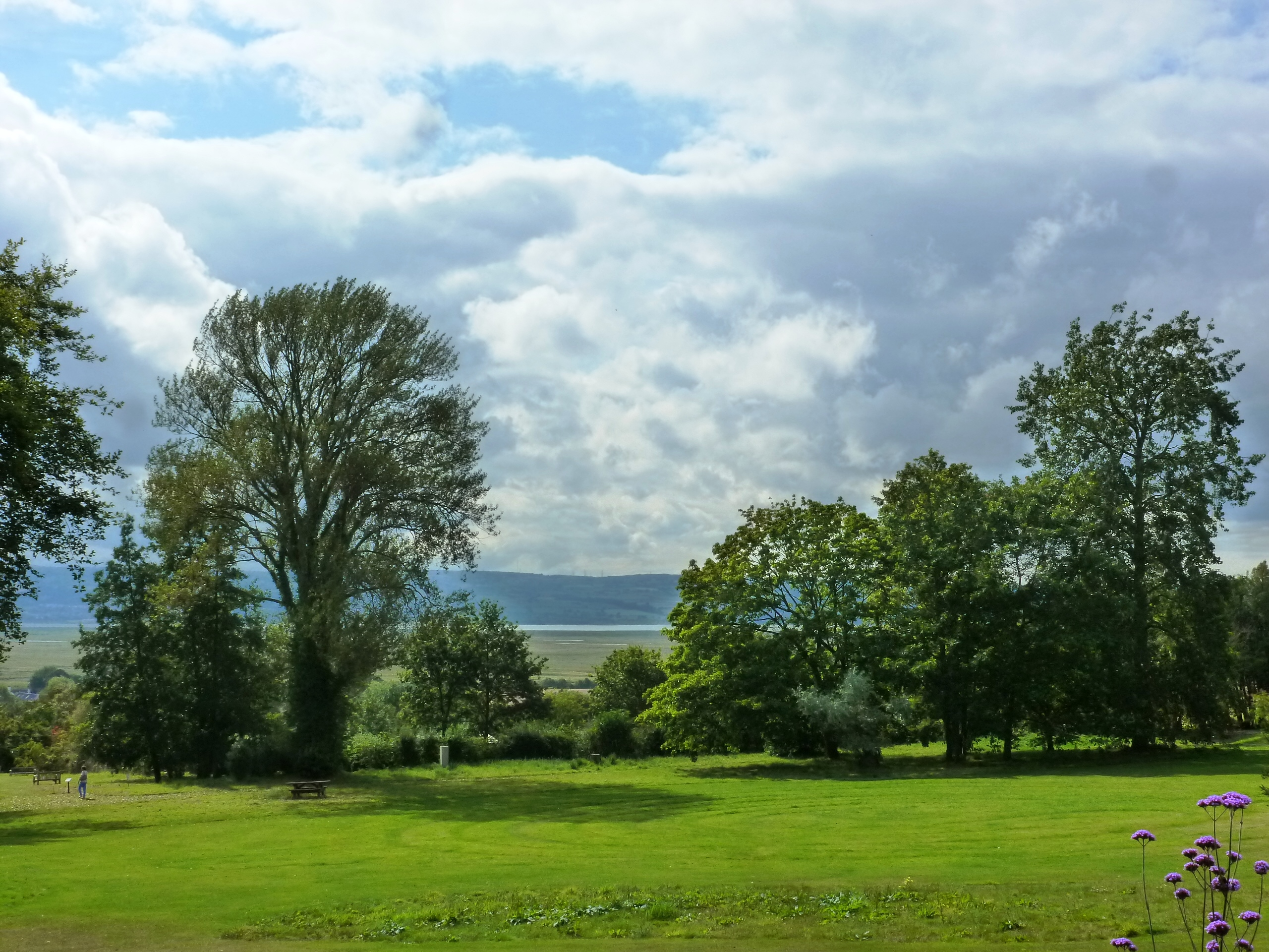 Dee Estuary and Flintshire Hills from Ness Botanic Garden, Wirral, CheshirePG