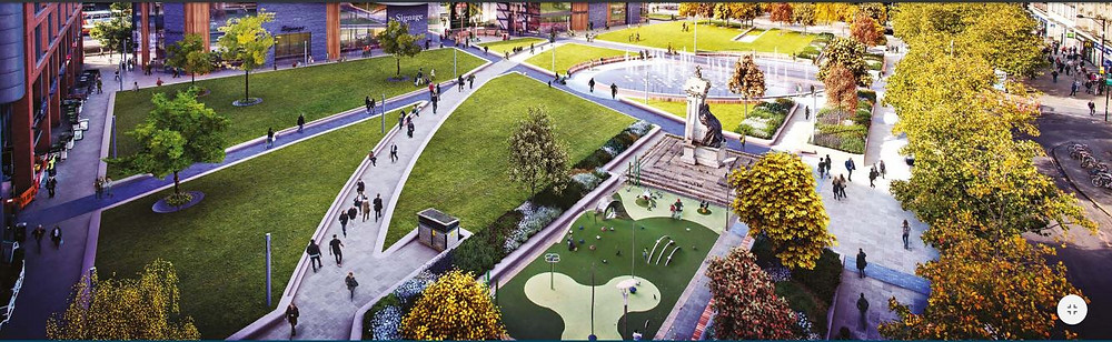 Plans by Urban Edge for civic space/garden area