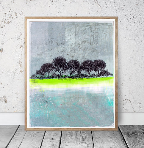 """Winter Treeline"" -A4 PRINT on etching paper"