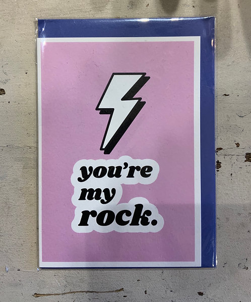 You're My Rock - Card