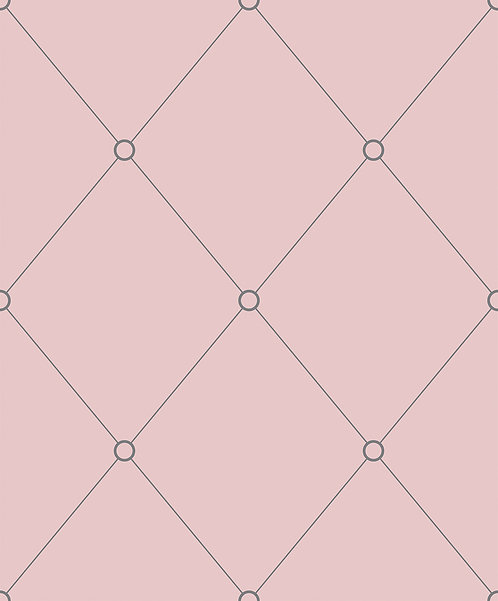 Pink & Grey Quilt Outline Wallpaper