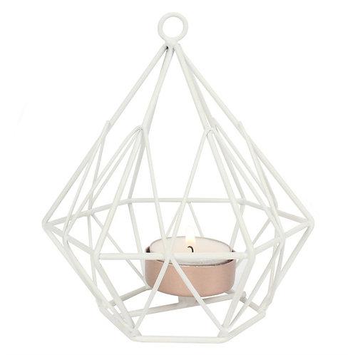 White Geometric Tealight holder