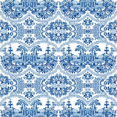 Delft Baroque Wallpaper - Blue
