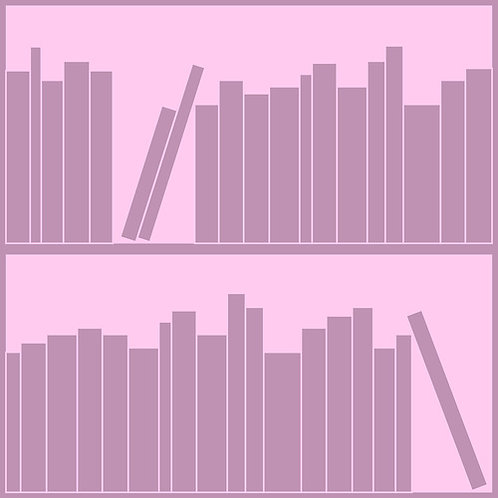 Tonal Pink bookshelf Outline Wallpaper