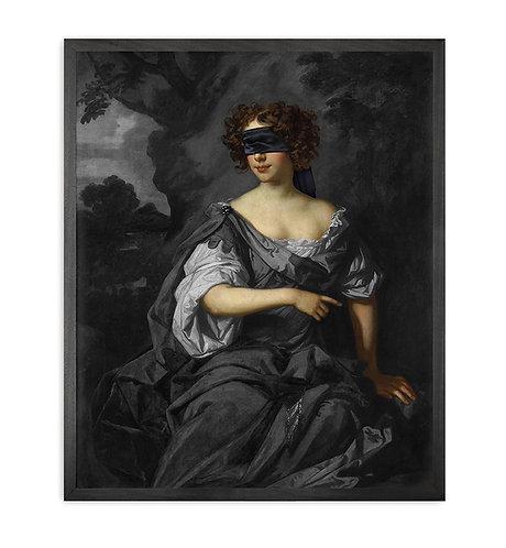 Blindfold -1 Framed Printed Canvas