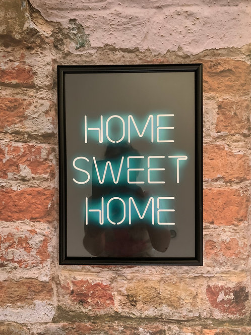 Home Sweet Home - A4 Neon Framed Print