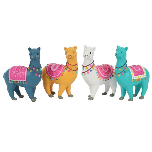 Fiesta Fun Standing Alpaca - (set of 4)