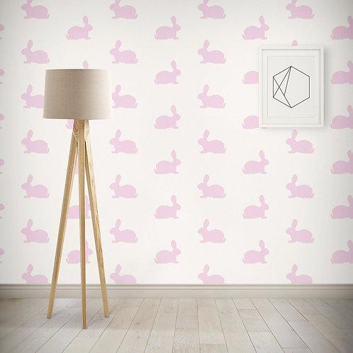 Bunnies Wallpaper - Pink