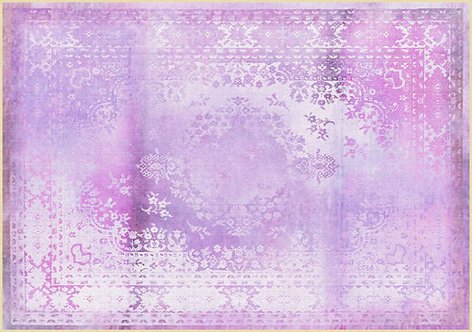 Kashan Remix Purple Rug