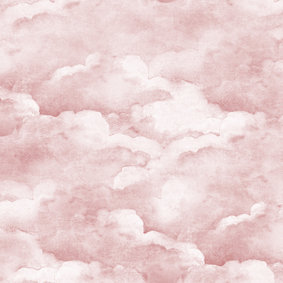 Dusty Pink Clouds Wallpaper
