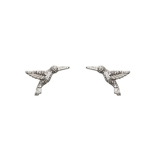 Earings Stud Humming Bird Silver/Gold