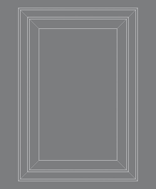 Tonal Grey Panel Outline Wallpaper