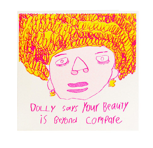Dolly Says Your Beauty Card
