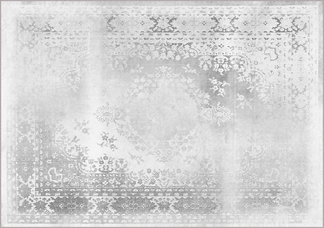 Kashan Remix White Rug