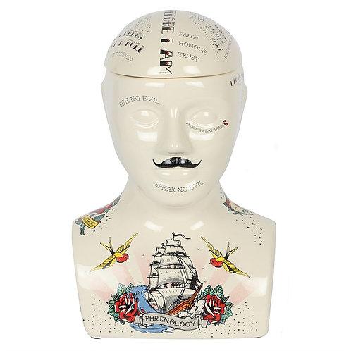 Phrenology Head Storage Jar (30cm)