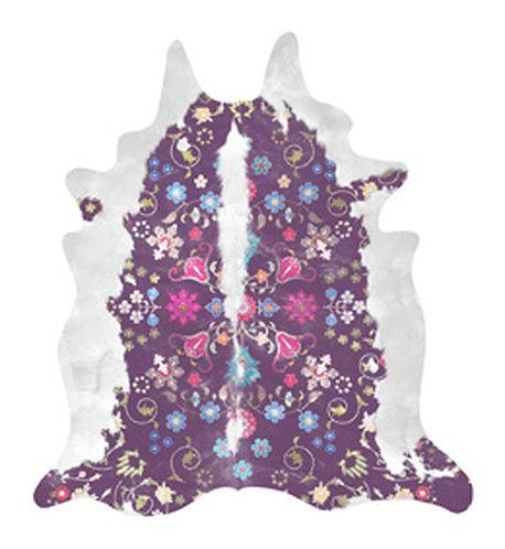 Gypsy Cowhide (Purple) Rug