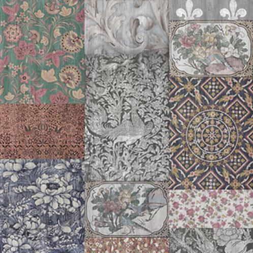 Arts & Crafts Patchwork Wallpaper