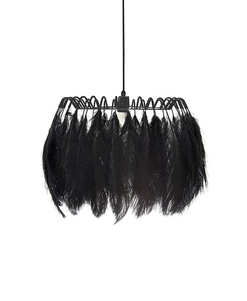 Feather Pendant Lamp in Black