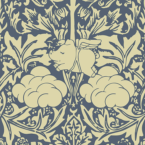 Morris Dream - Grey Captain Blue Wallpaper