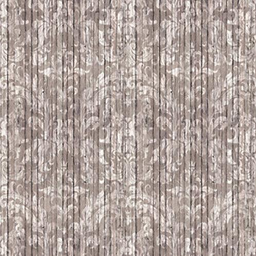 Light Driftwood Damask Wallpaper