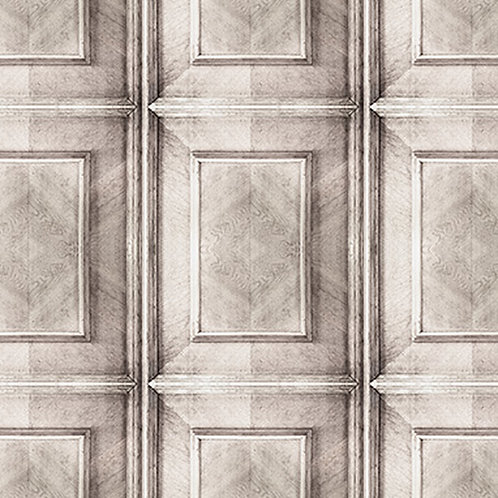 Bleached Dutch Inlay Panelling Wallpaper