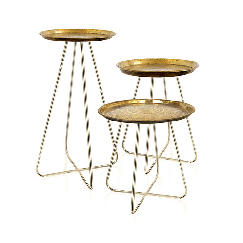 New Casablanca Table in Brass