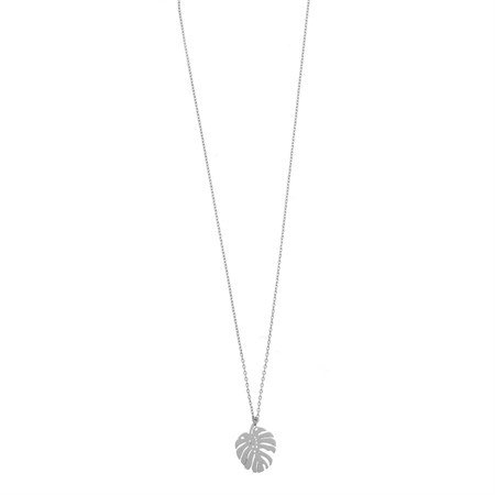 Necklace Monstera Silver