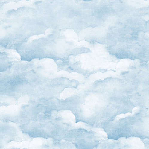 Smokey Blue Clouds Wallpaper