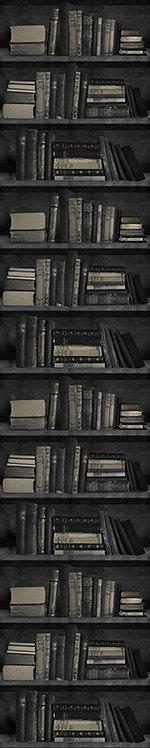 Dark Bookshelf Wallpaper