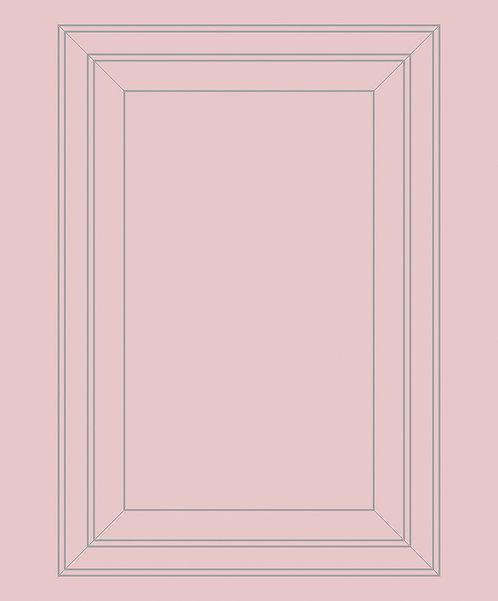 Pink & Grey Panel Outline Wallpaper