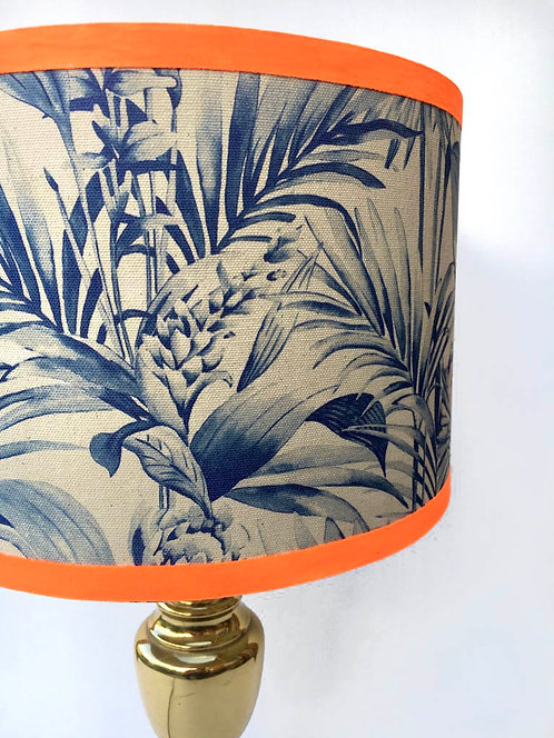 Tropical Snake Lampshade - Navy