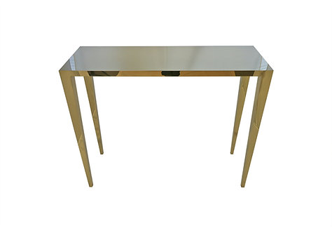 Gold console table