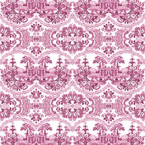Delft Baroque Wallpaper - Pink