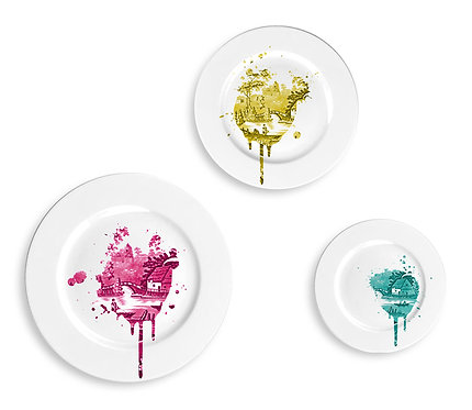 Funky Undercover Antique Plates