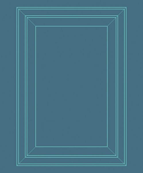 Petroleum & Aquamarine Panel Outline Wallpaper